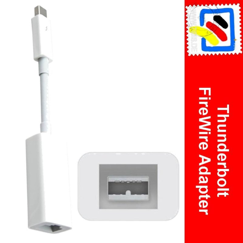 Colorful Apple Thunderbolt To Firewire Adapter Vignette - Electrical ...