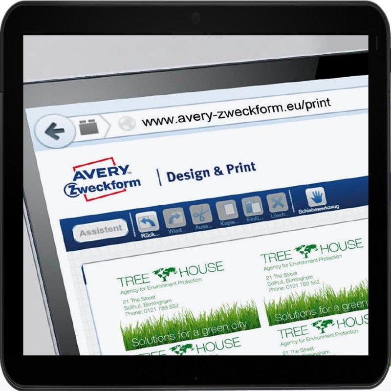 Avery Zweckform C32015 25 Premium Visitenkarten 200 Stück 85 X 54 Mm Spezialbeschichtung Beidseitig Matt 25 Blatt Packung
