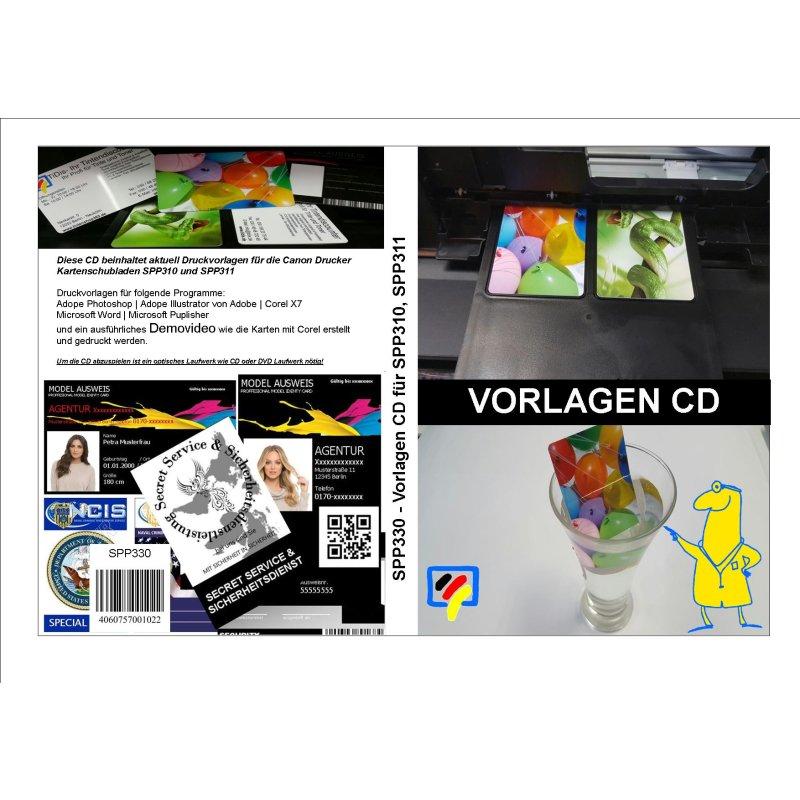 Kartendrucker Vorlagen CD mit Microsoft Word und Corel 7 Vorlage, 29 ...
